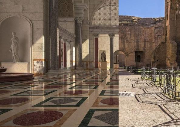 BATH OF CARACALLA IN 3D